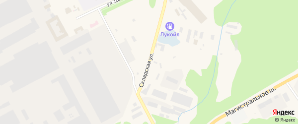 Складская улица на карте Коряжмы с номерами домов