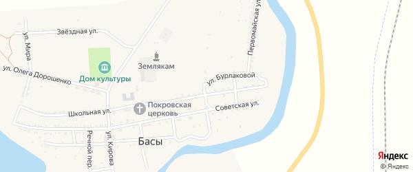 Молодежная улица на карте села Басы с номерами домов