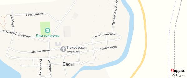 Комсомольская улица на карте села Басы с номерами домов