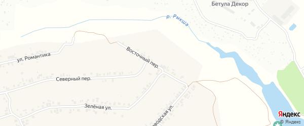 Восточный переулок на карте деревни Большие Катраси с номерами домов