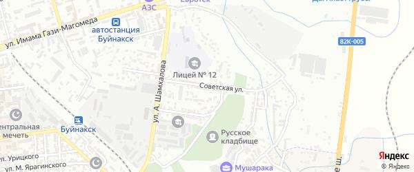 Советская улица на карте Буйнакска с номерами домов