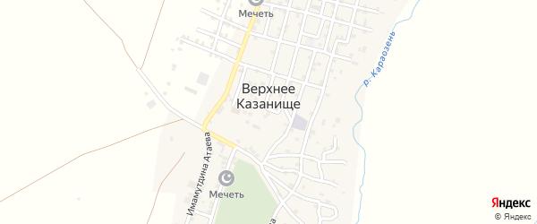 Улица Имамутдина Атаева на карте села Верхнего Казанища с номерами домов