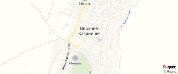 Улица Ильмутдина Гаджиева на карте села Верхнего Казанища с номерами домов