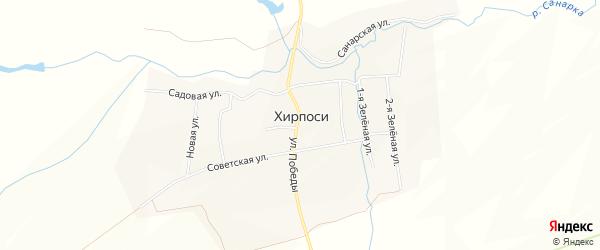 Карта деревни Хирпосей в Чувашии с улицами и номерами домов
