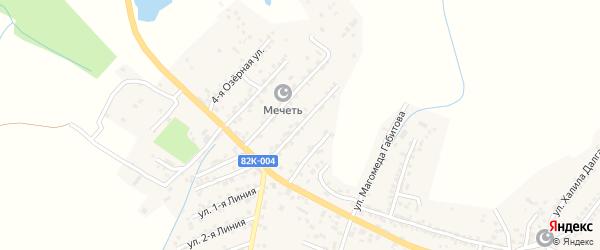 Озерная улица на карте Буйнакска с номерами домов