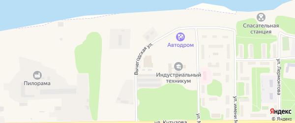 Вычегодская улица на карте садового некоммерческого товарищества Первые Садоводы сад N1 с номерами домов