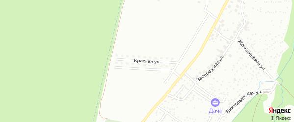 Красная улица на карте Чебоксар с номерами домов