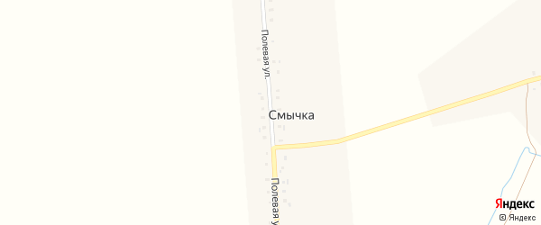 Полевая улица на карте деревни Смычки с номерами домов