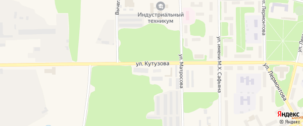 Улица Кутузова на карте Коряжмы с номерами домов