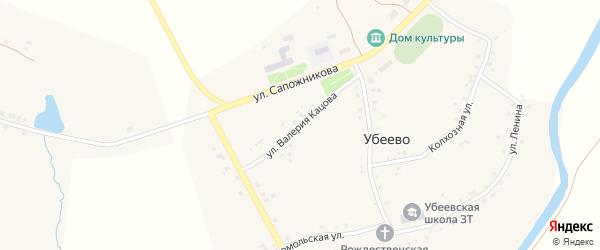 Улица Валерия Кацова на карте села Убеево с номерами домов
