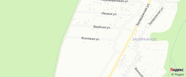 Ясеневая улица на карте Чебоксар с номерами домов