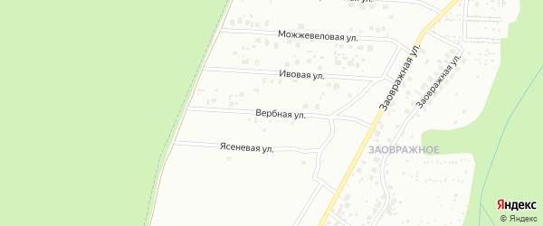Вербная улица на карте Чебоксар с номерами домов