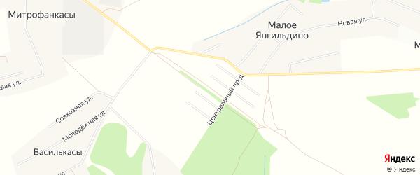 СТ Антоновка на карте Атлашевского сельского поселения с номерами домов