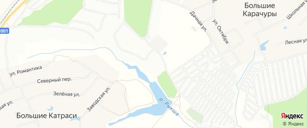 СТ Рыкша на карте Большекатрасьского сельского поселения с номерами домов