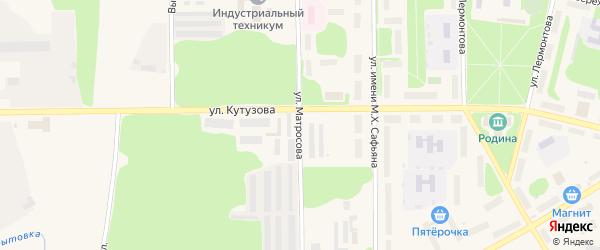 Улица Матросова на карте Коряжмы с номерами домов