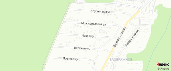Ивовая улица на карте Чебоксар с номерами домов