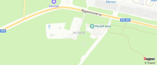 Улица поселок Лесной на карте Чебоксар с номерами домов