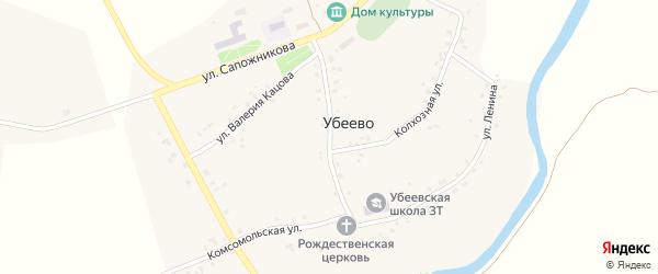 Школьная улица на карте села Убеево с номерами домов