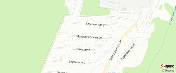 Можжевеловая улица на карте Чебоксар с номерами домов