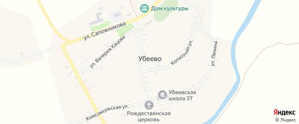 Мостовая улица на карте села Убеево с номерами домов