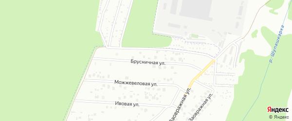 Брусничная улица на карте Чебоксар с номерами домов