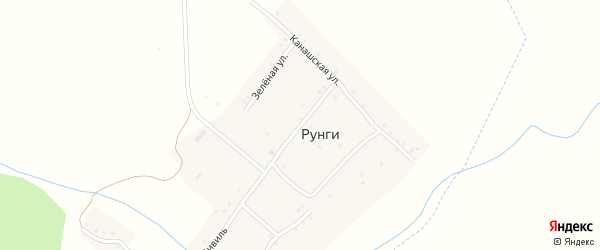 Улица Малый Цивиль на карте деревни Рунги с номерами домов