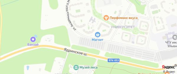 Улица Академика РАН Х.М.Миначева на карте Чебоксар с номерами домов