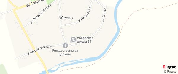 Улица Ленина на карте села Убеево с номерами домов