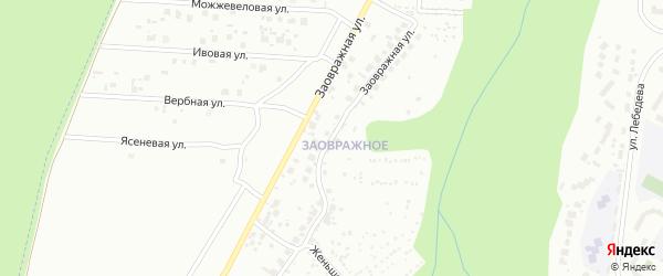 Заовражная улица на карте Чебоксар с номерами домов