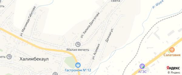 Средняя улица на карте села Акайталы с номерами домов