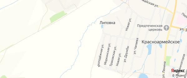 СТ Урожай на карте Красноармейского сельского поселения с номерами домов