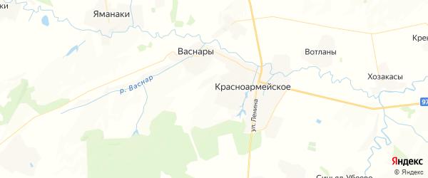 Карта Убеевское сельского поселения республики Чувашия с районами, улицами и номерами домов
