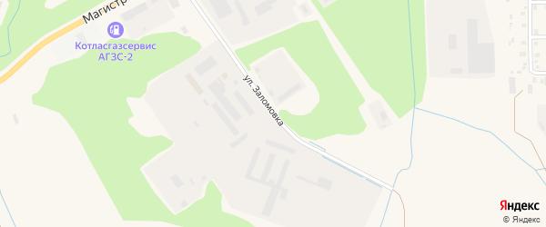 Улица Заломовка на карте Коряжмы с номерами домов