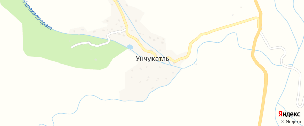 Озерная улица на карте села Унчукатля с номерами домов