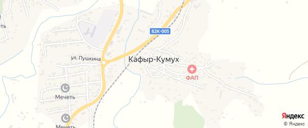 Гаражный переулок на карте села Кафыра-Кумуха с номерами домов