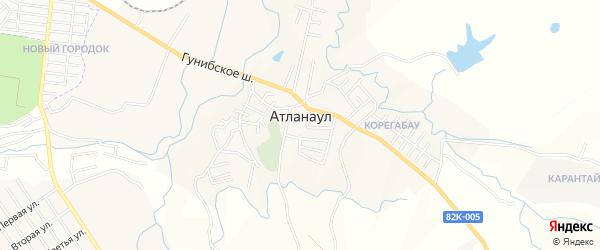 Карта села Атланаула в Дагестане с улицами и номерами домов