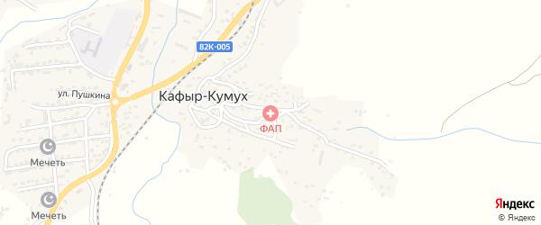 Речная улица на карте села Кафыра-Кумуха с номерами домов