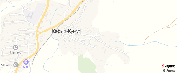 Улица Чагар-арка на карте села Кафыра-Кумуха с номерами домов