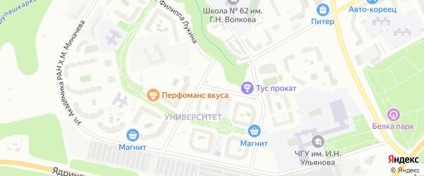 Улица Филиппа Лукина на карте Чебоксар с номерами домов