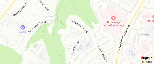Сиреневая улица на карте Чебоксар с номерами домов