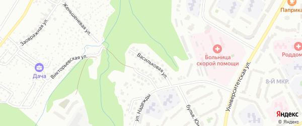 Васильковая улица на карте Чебоксар с номерами домов