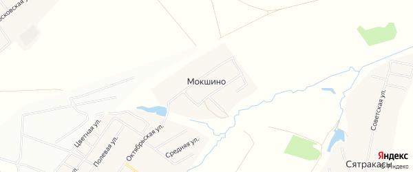 Карта деревни Мокшино в Чувашии с улицами и номерами домов