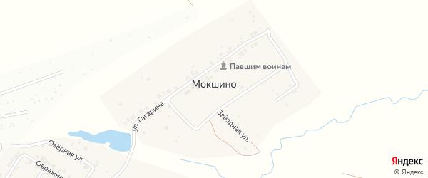 Звездная улица на карте деревни Мокшино с номерами домов