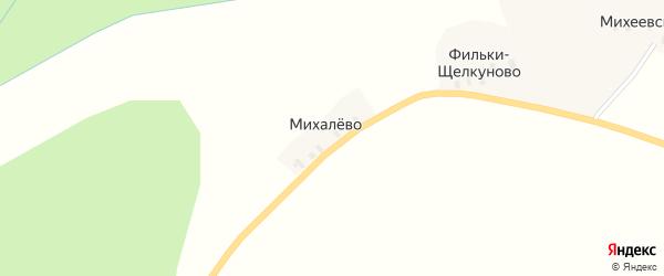 Низовская улица на карте деревни Большое Михалево с номерами домов