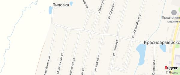 Новая улица на карте Красноармейского села с номерами домов