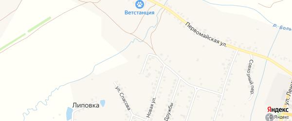 Рябиновая улица на карте Красноармейского села с номерами домов