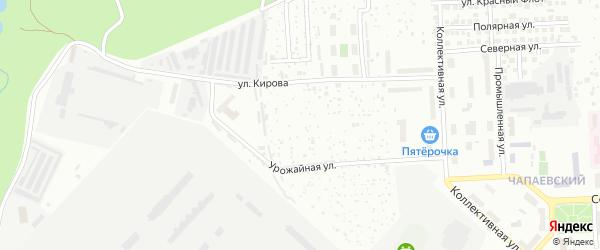 Территория сдт Урожайный 1 на карте Чебоксар с номерами домов