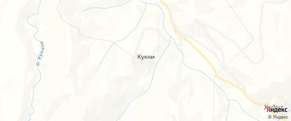 Карта села Кукни в Дагестане с улицами и номерами домов