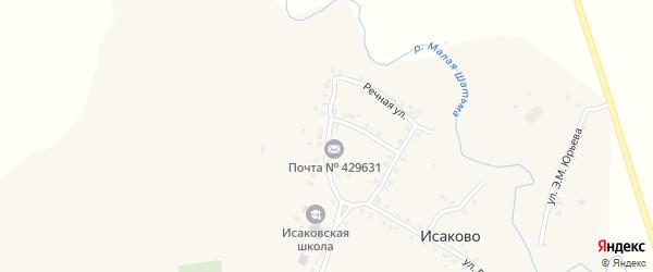 Садовая улица на карте села Исаково с номерами домов
