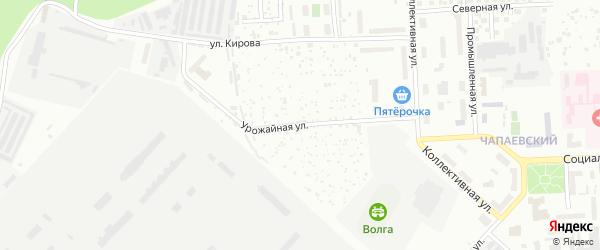 Урожайная улица на карте Чебоксар с номерами домов